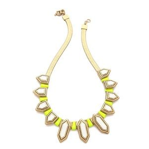 Madewell Brass Neon Citron Collar Necklace
